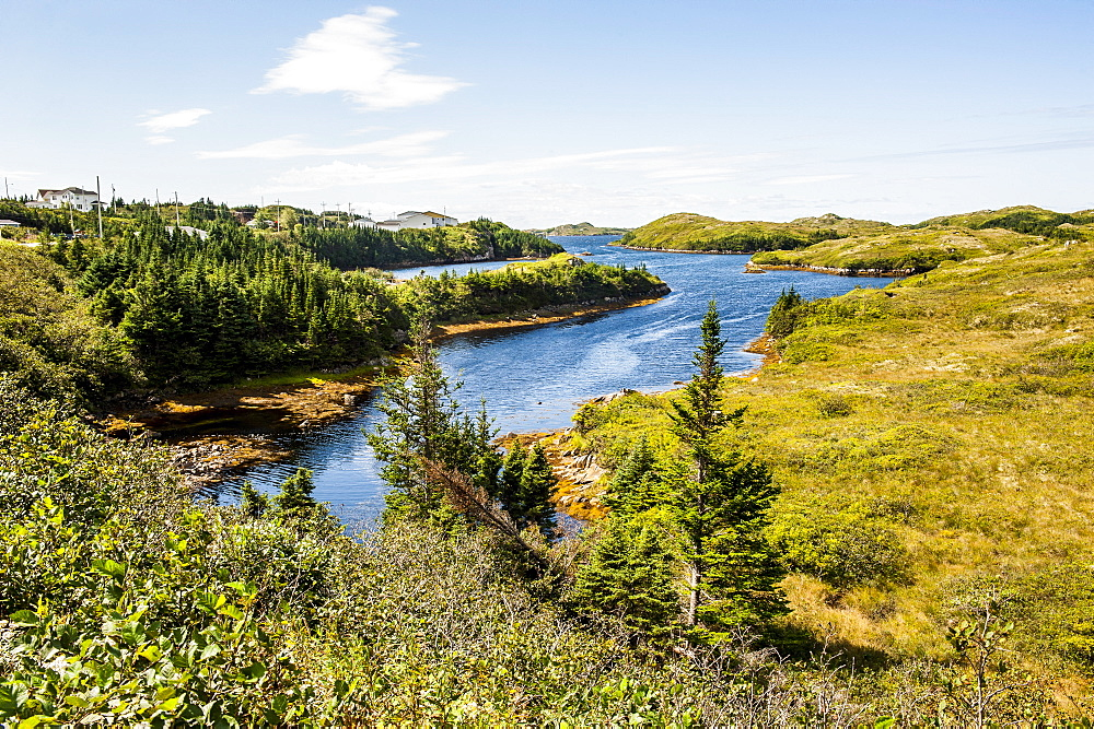 Beautiful pond near Port aux Basques, Newfoundland, Canada, North America