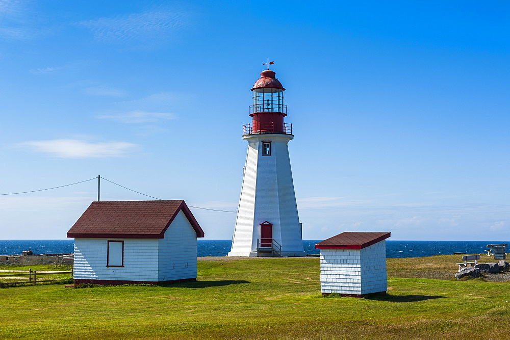 Pointe Riche lighthouse, Port au Choix, Newfoundland, Canada, North America
