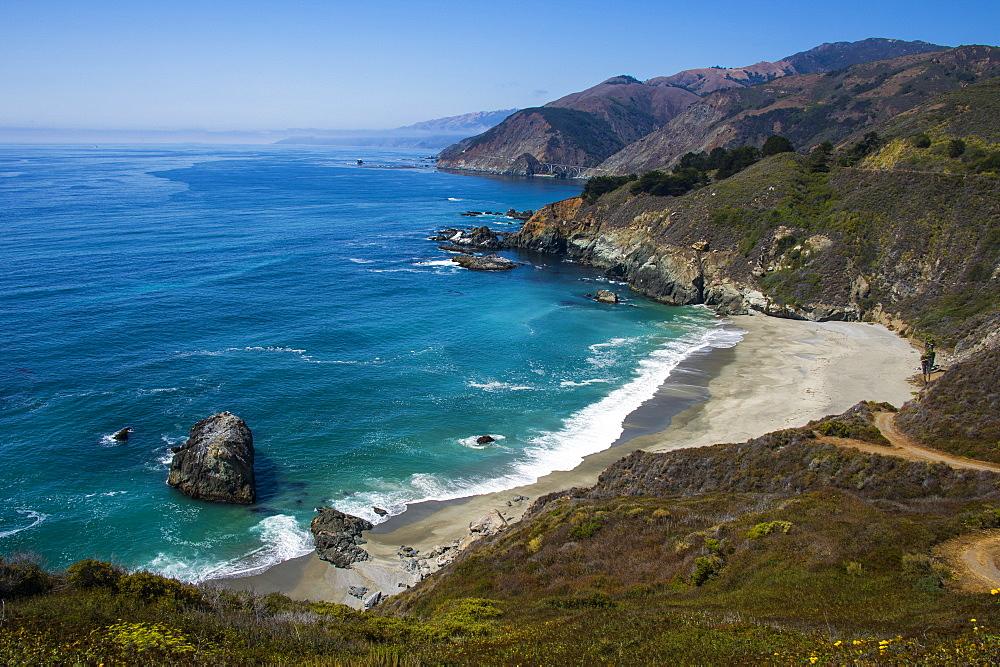 Overlook over the Big Sur, California, USA