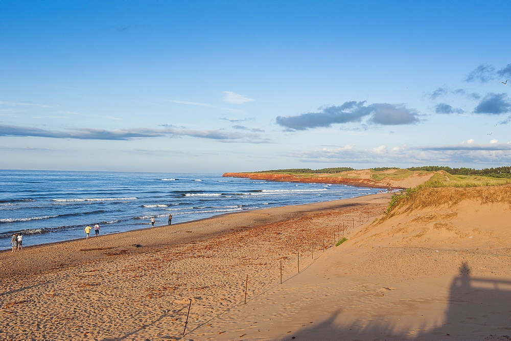 Long sandy beach in the Prince Edward Island National Park, Prince Edward Island, Canada, North America