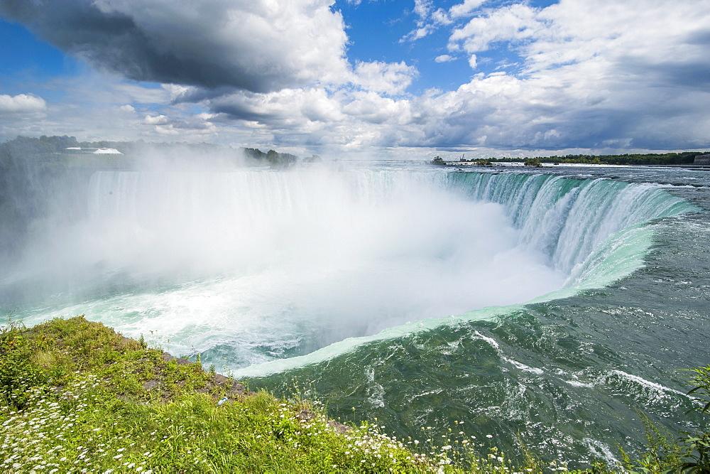 View over Horseshoe falls (Canadian Falls), Niagara Falls, Ontario, Canada, North America