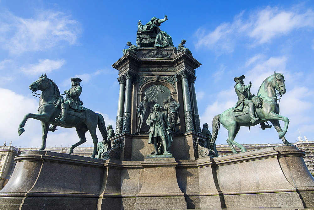 Maria-Theresa monument on Maria-Theresien-Platz in front of the Museum of Natural History, Vienna, Austria, Europe
