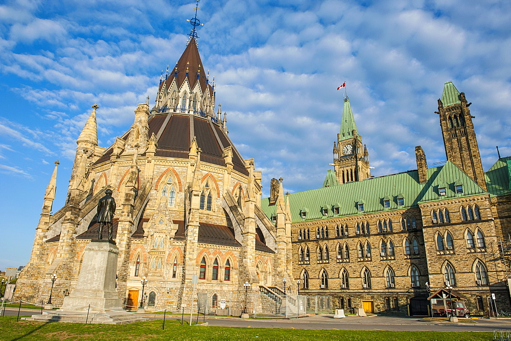 Centre Block on Parliament Hill, Ottawa, Ontario, Canada, North America