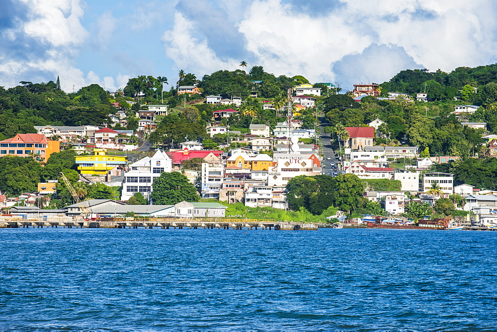 The town of Scarborough, Tobago, Trinidad and Tobago, West Indies, Caribbean, Central America
