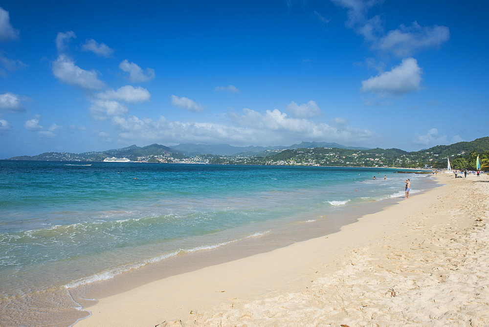 Long sandy  beach of Grande Anse, Grenada, Windward Islands, West Indies, Caribbean, Central America
