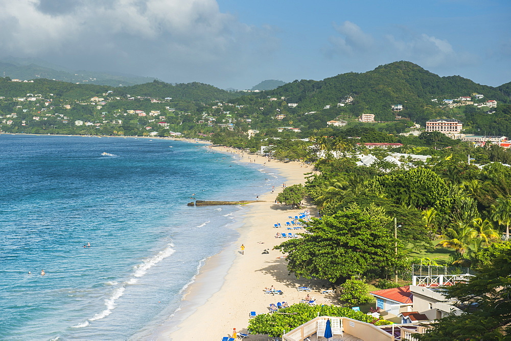 View over the beach of Grande Anse, Grenada, Windward Islands, West Indies, Caribbean, Central America