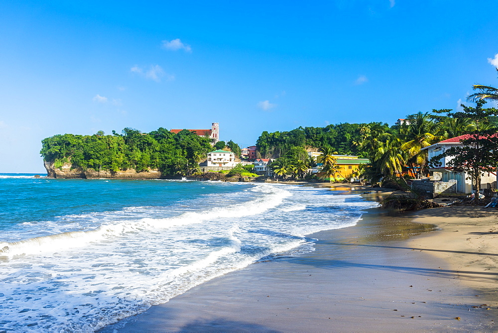 The beach and town of Sauteurs, Grenada, Windward Islands, West Indies, Caribbean, Central America