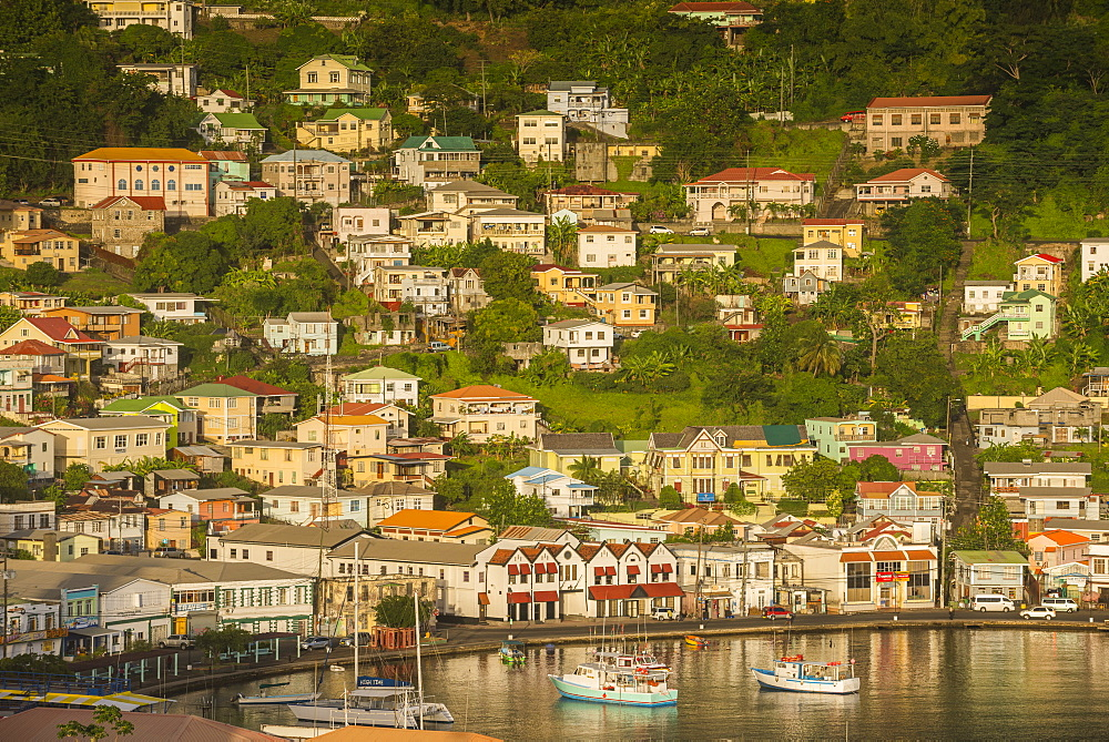 View over St. Georges, capital of Grenada, Windward Islands, West Indies, Caribbean, Central America