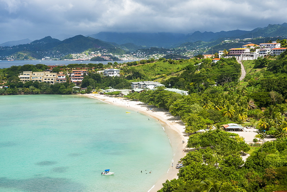 View over Mourne Rouge beach, Grenada, Windward Islands, West Indies, Caribbean, Central America