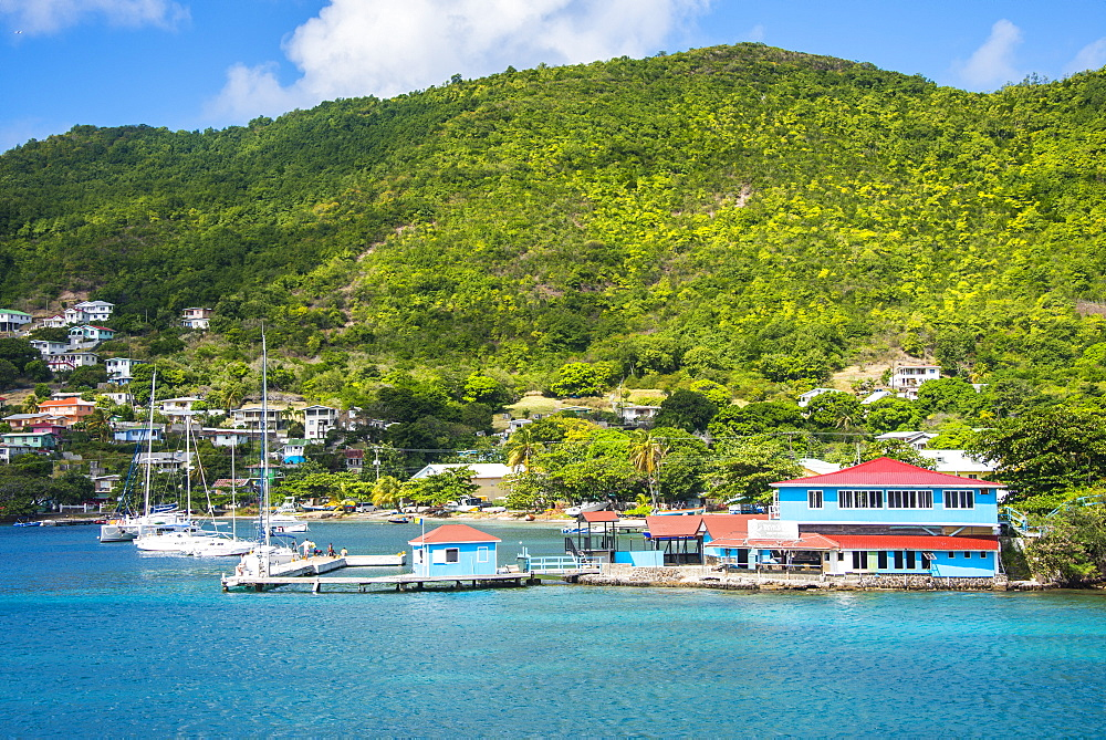 The harbour of Port Elizabeth, Admiralty Bay, Bequia, The Grenadines, St. Vincent and the Grenadines, Windward Islands, West Indies, Caribbean, Central America