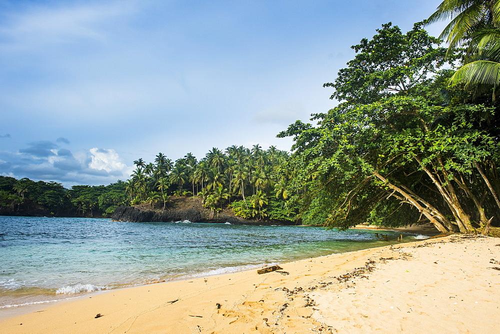 Beach of Praia Piscina on the south coast of Sao Tome, Sao Tome and Principe, Atlantic Ocean, Africa