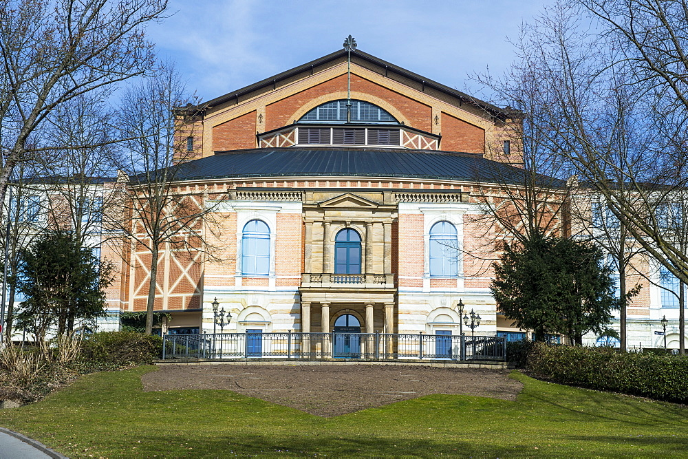 The Bayreuth Festspielhaus (Bayreuth Festival Theatre), Bayreuth, Upper Franconia, Bavaria, Germany, Europe