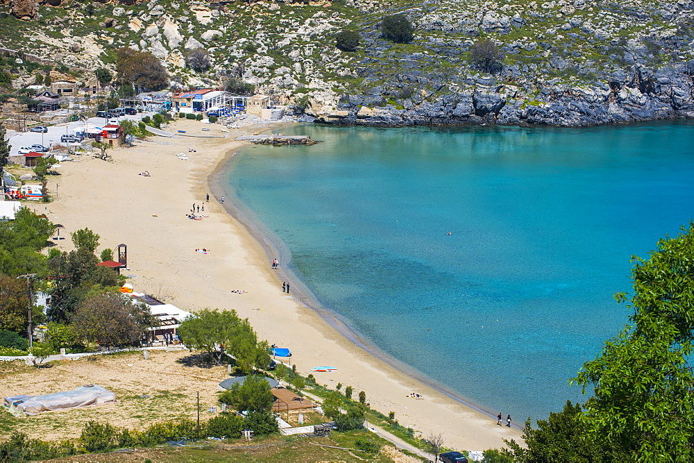 Pallas beach in Lindos, Rhodes, Dodecanese Islands, Greek Islands, Greece, Europe