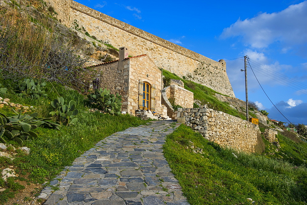 The Fortezza, fortress in Rethymno, Crete, Greek Islands, Greece, Europe