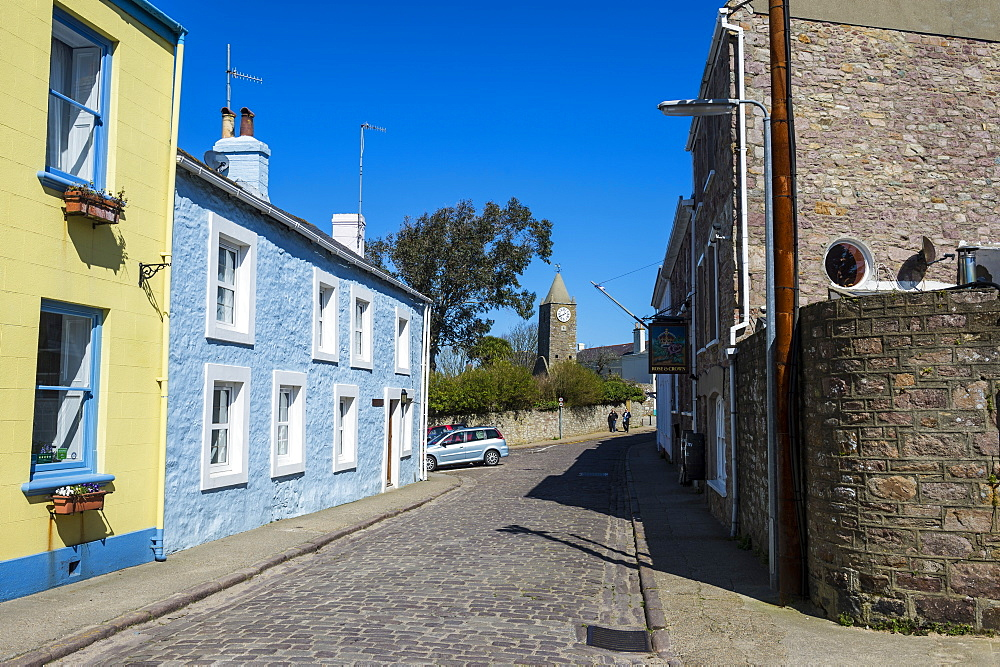 Old houses in St. Anne, Alderney, Channel Islands, United Kingdom, Europe