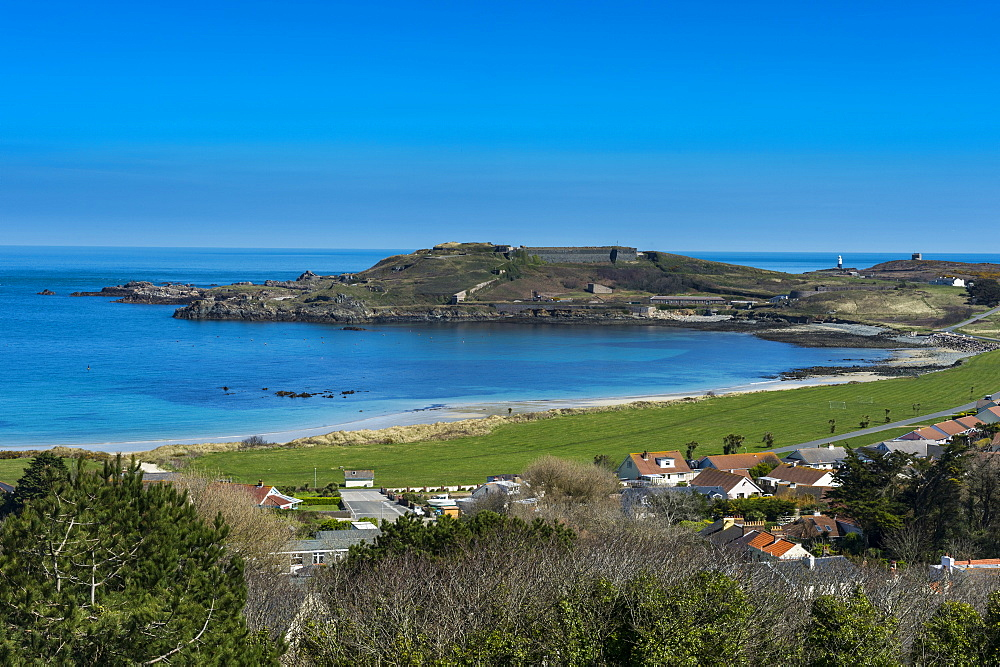 View over Alderney, Channel Islands, United Kingdom, Europe