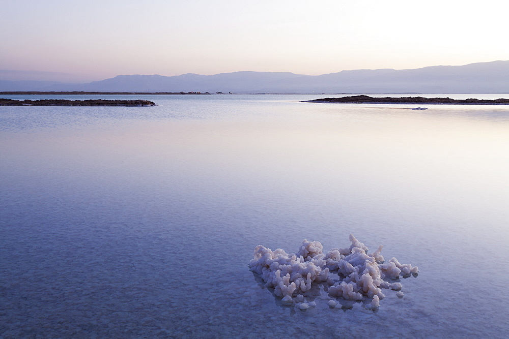 Salt formations on the surface of the water, Dead Sea, Israel, Middle East - 818-1321