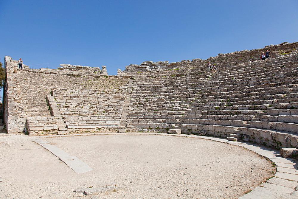 The Greek theatre in Segesta, Trapani, Sicily, Italy, Europe