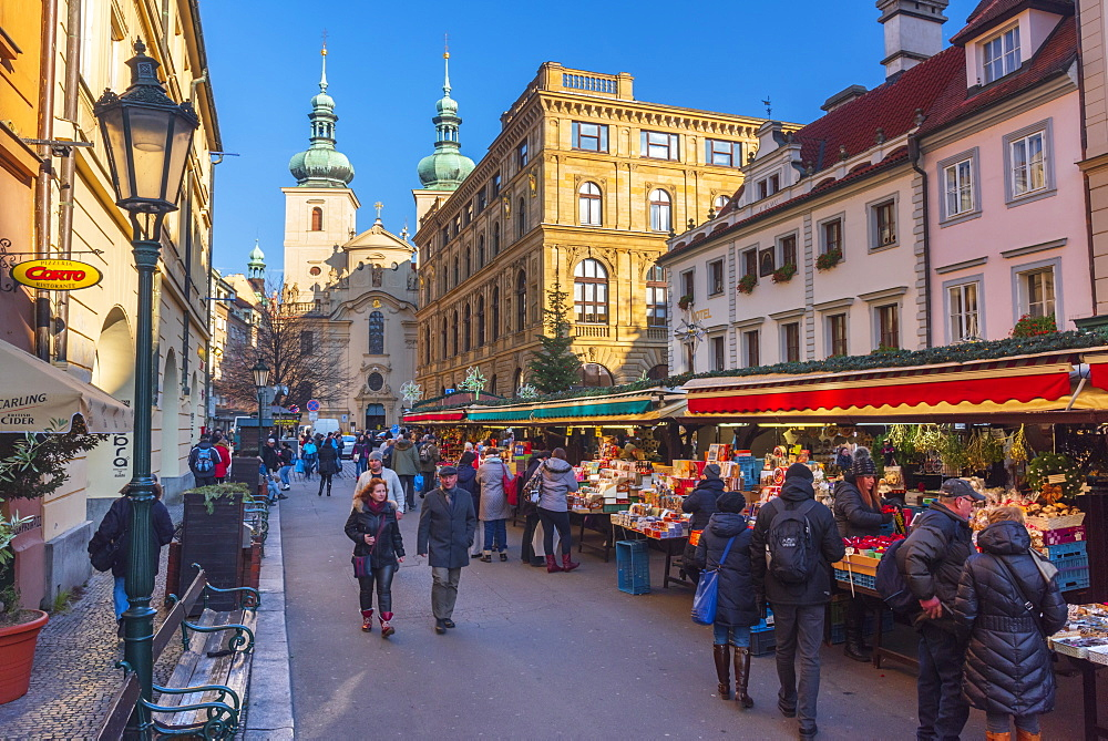 Christmas Market, Havelska Market Place, Stare Mesto (Old Town), Prague, Czech Republic, Europe - 828-1190