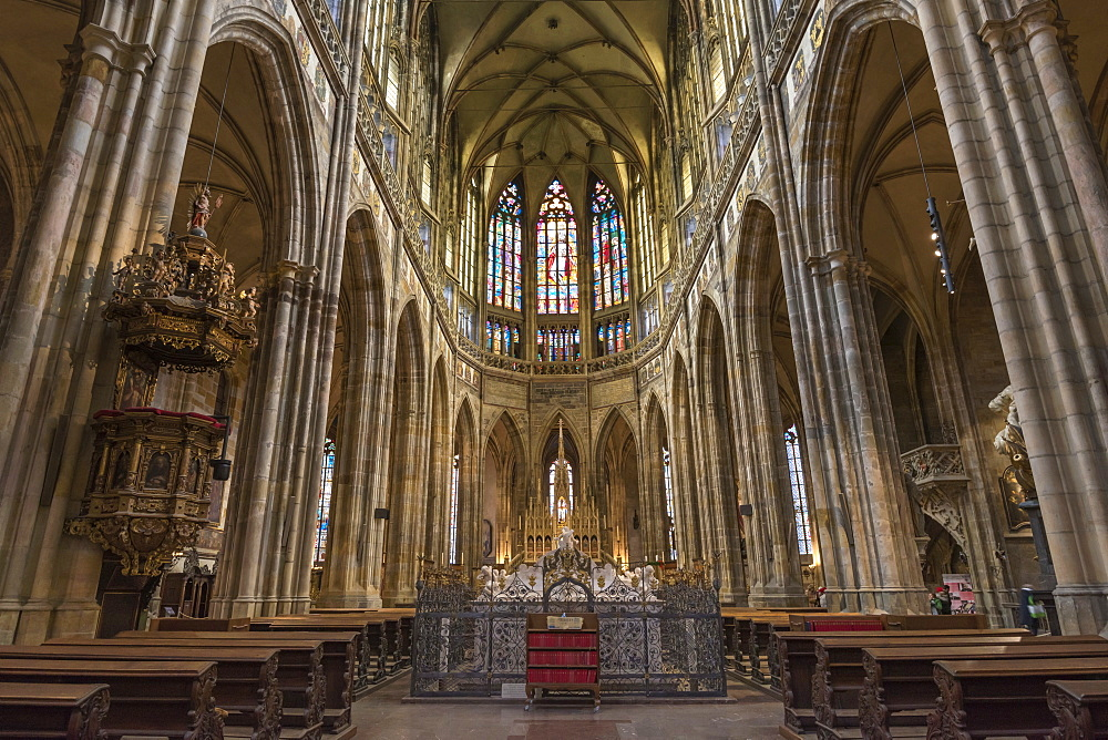 St. Vitus Cathedral, Prague Castle, Mala Strana, UNESCO World Heritage Site, Prague, Czech Republic, Europe - 828-1192