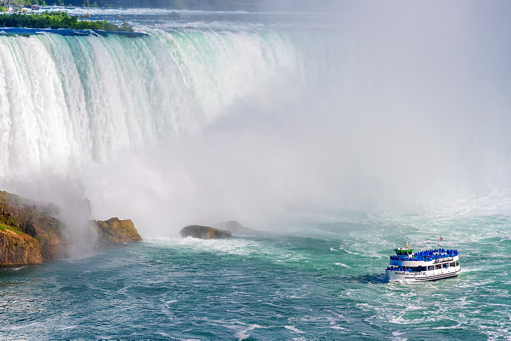 Horseshoe Falls, Maid of the Mist boat tour, Niagara Falls, Ontario, Canada, North America