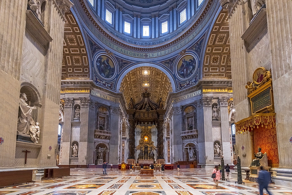 St. Peter's Basilica, UNESCO World Heritage Site, The Vatican, Rome, Lazio, Italy, Europe