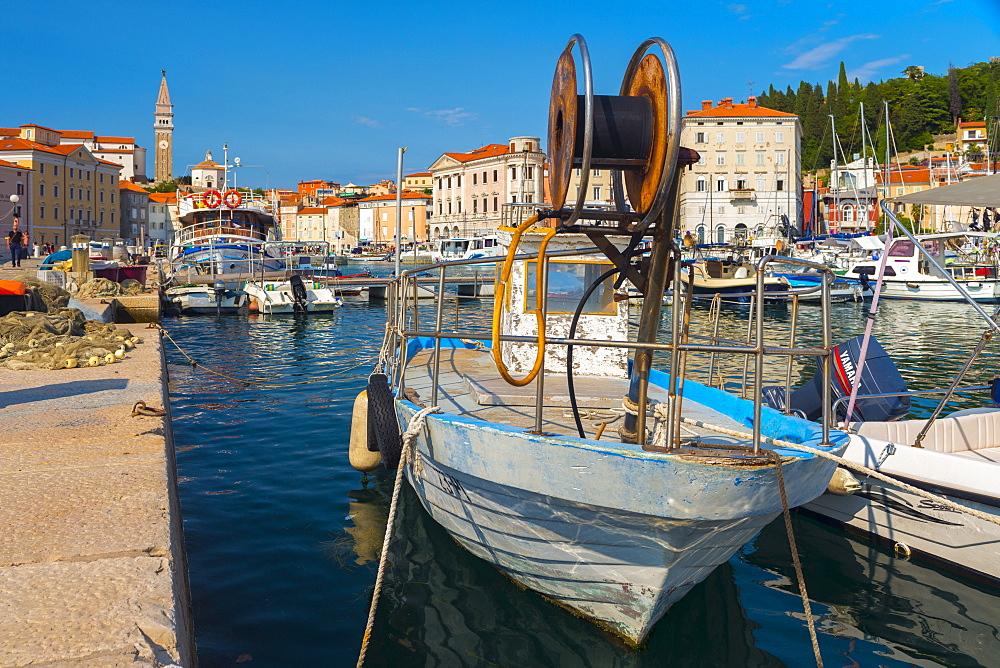 Old Town Harbour, Piran, Primorska, Slovenian Istria, Slovenia, Europe