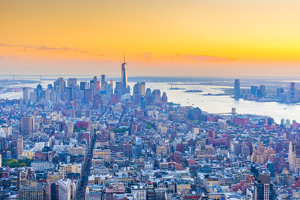 Manhattan, Lower Manhattan and Downtown, World Trade Center, Freedom Tower, New York, United States of America, North America