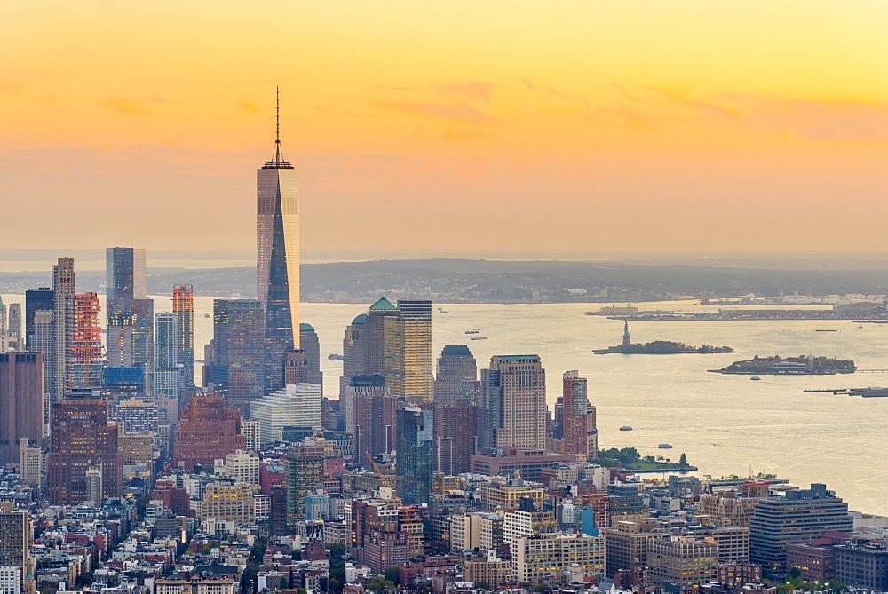 Manhattan, Lower Manhattan and Downtown, World Trade Center, Freedom Tower (One World Trade Center), New York, United States of America, North America