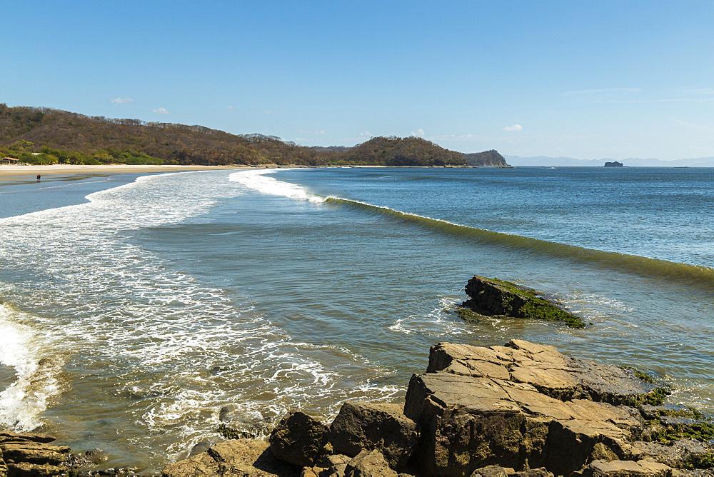 Beautiful world-class Playa El Coco beach south of San Juan del Sur, Playa El Coco, San Juan del Sur, Rivas Province, Nicaragua, Central America
