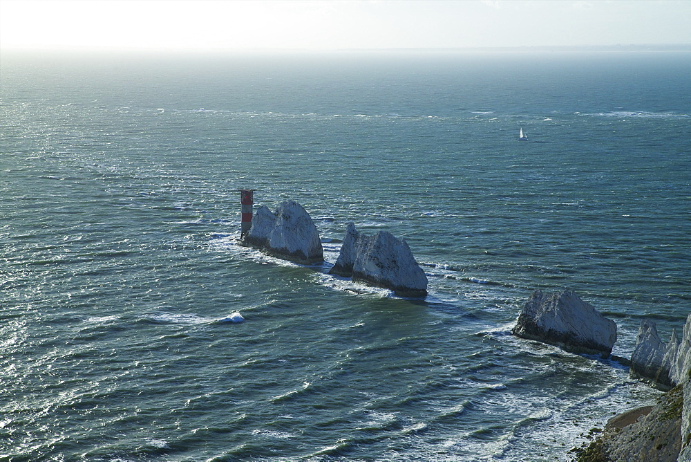 View of The Needles, Isle of Wight, England, United Kingdom, Europe - 831-1490