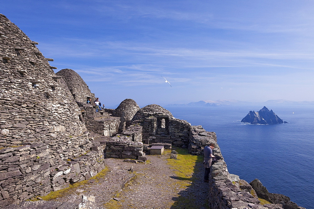 Celtic Monastery, Skellig Michael, UNESCO World Heritage Site, County Kerry, Munster, Republic of Ireland, Europe