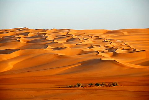 Endless wide open space sanddunes in the desert Mandara Libya