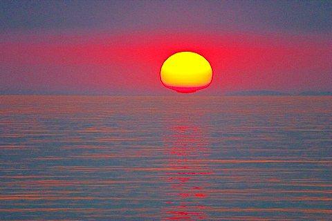 sunset over the sea, mood, Greece