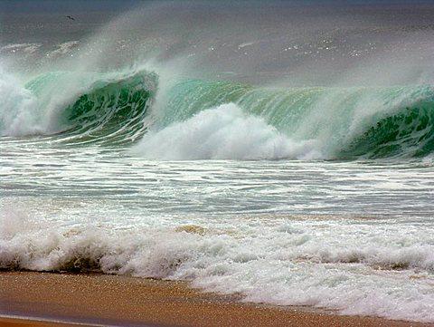 Wawes at the Atlantic Ocean in France