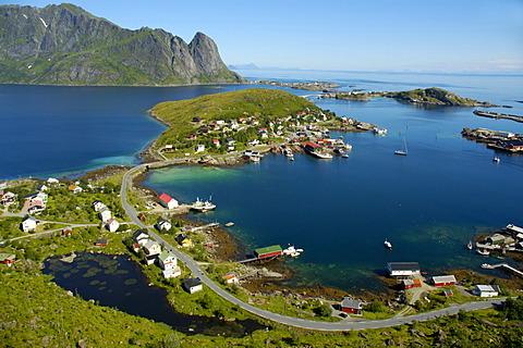 View on Reine Moskenesoya Lofoten Norway