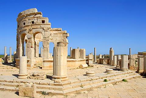 Roman market place Leptis Magna Libya