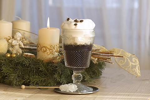 Irish coffee in the christmas time