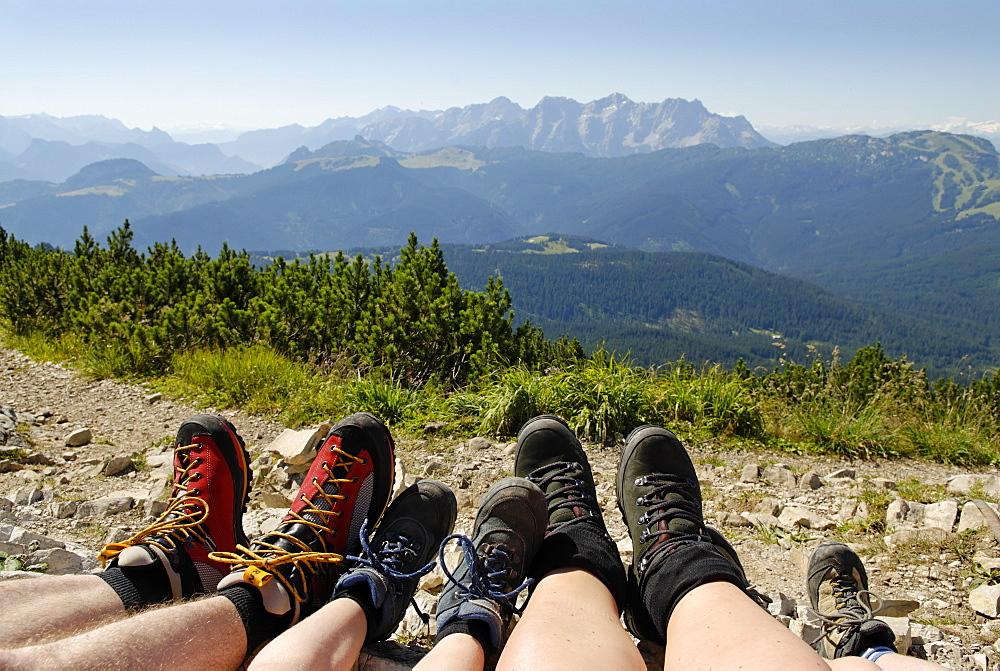 At the DuerrnbachhornWinklmoosalm near Reit im Winkl Chiemgau Upper Bavaria Germany