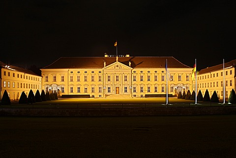 Bellevue Palace, seat of the Federal President in Berlin, Germany, Europe