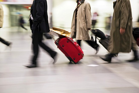 Businessmen with suitcase