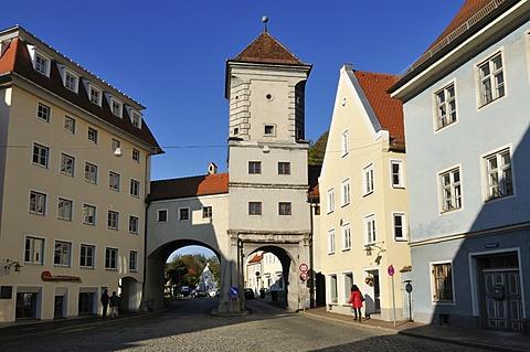 Sandauer Tor, historic town gate, Landsberg am Lech, Upper Bavaria, Germany, Europe, PublicGround