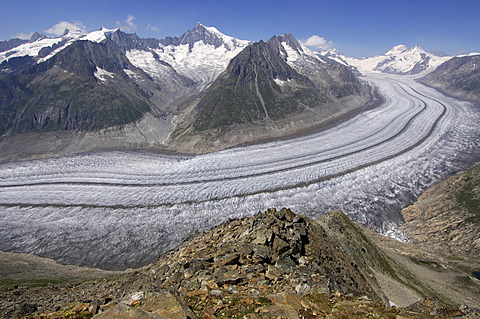 Glacier Aletsch Wallis Switzerland