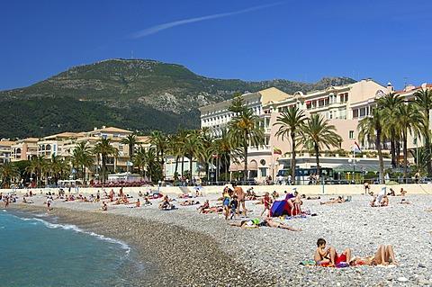 On the beach Menton Côte d\'Azur France