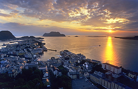 View onto Alesund, Norway