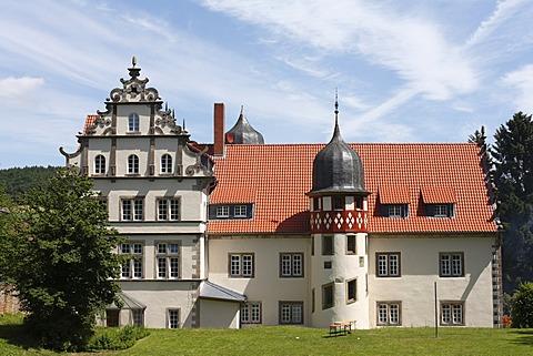 Castle in Buchenau, Eiterfeld municipality, Rhoen, Hesse, Germany, Europe