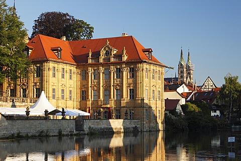 Villa Concordia, Bamberg Cathedral, Regnitz, Bamberg, Upper Franconia, Franconia, Bavaria, Germany, Europe, PublicGround