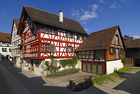 Old half timbered house in Stein am Rhein - Kanton Schaffhausen, Switzerland, Europe