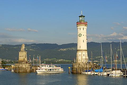 Port entrance from Lindau - Bavaria, Germany, Europe.
