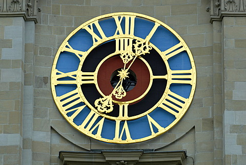 Sankt Gallen - clockface from the cathedral - Switzerland Europe.